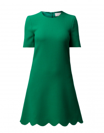 Jolie Apple Green Scallop Hem Dress