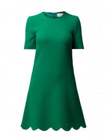 Jolie Apple Green Scallop Hem Dress