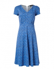 Nice Blue Petal Print Cotton Jersey Dress