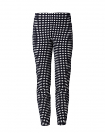 Springfield Navy Gingham Double Stretch Pull On Pant