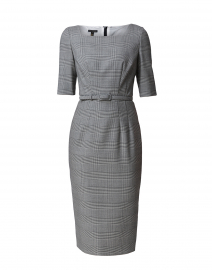 Derina Grey Houndstooth Pencil Dress