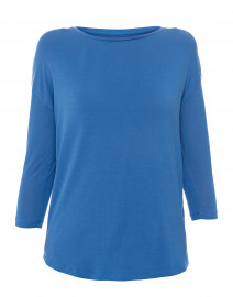 Blue Extrafine Boatneck Top