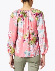 Kobi Halperin - Priscilla Masha Garden Print Hammered Silk Blouse