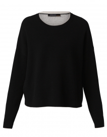 Black Sweater with White Trim