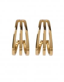 Cerceau Gold Multi Strand Hoop Earrings