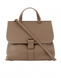 Lucque - Orleans Taupe Pebbled Leather Tote Handbag