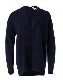 Navy Wool Cashmere Cardigan