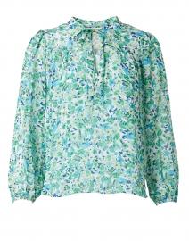 Edie Green Floral Print Chiffon Blouse