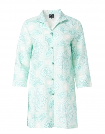 Rita Mint Byzantine Printed Linen Jacket