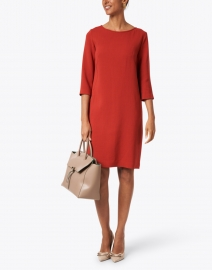 Rosso35 - Ginger Red Wool Crepe Dress