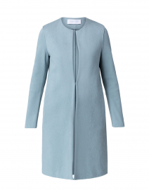 Powder Blue Canvas Coat
