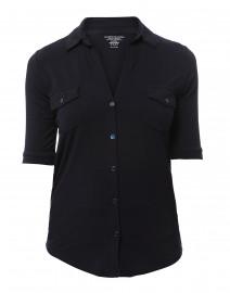 Navy Extrafine Button Down Shirt