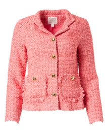 Pink Tweed Button-Up Jacket