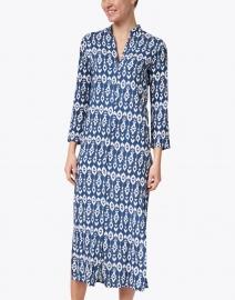 Walker & Wade - Indigo Ikat Print Duster Dress