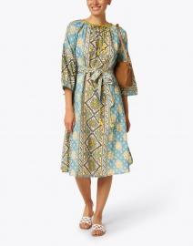 D'Ascoli - Margita Blue Floral Print Cotton Dress