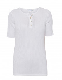 White Ribbed Cotton Top