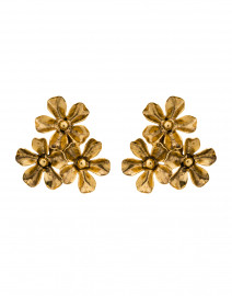 Danni Gold Flower Cluster Stud Earrings