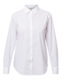 Tilda White Stretch Cotton Button Down Shirt