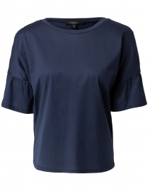 Orlanda Navy Cotton Top