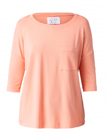 Cantaloupe Pink Cotton Bamboo Top