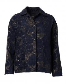 Navy and Gold Jacquard Jacket