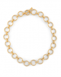 Gold and Moonstone Bamboo Link Chain Necklace