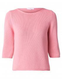 Sea Coral Cotton Knit Sweater