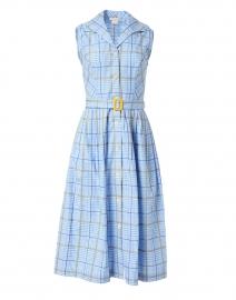 Candide Blue Gingham Cotton Shirt Dress