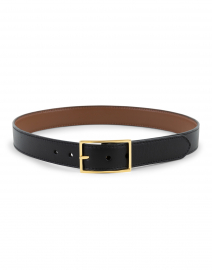 Brown and Black Smooth Calf Reversible Belt