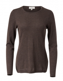 Brown Cashmere Knit Top