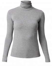 Medium Grey Stretch Viscose Top