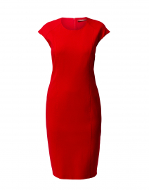 Bobbio Red Crepe Dress