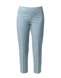 Audrey Sage Green Stretch Cotton Capri Pant