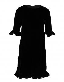 Black Ruffle Velvet Dress