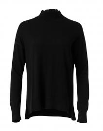 Black Cotton Silk Top
