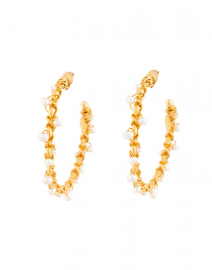 Creole Orphee Pearl Beaded Hoop Earrings
