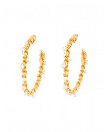 Creole Orphee Pearl Beaded Hoop Earrings