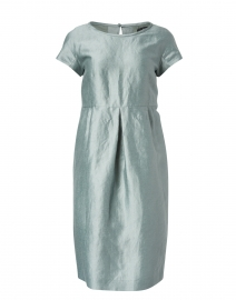 Prugna Sage Green Linen and Silk Dress