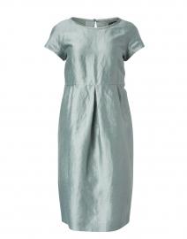 Prugna Sage Green Linen and Silk Dress