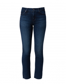 Mari Dark Blue Denim Straight Leg Jean
