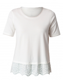 White Eyelet Cotton Top