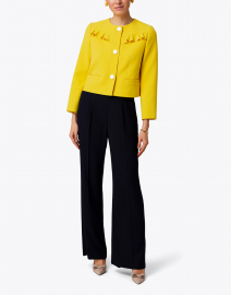 Tara Jarmon - Vila Yellow Jacket with Front Ruffle