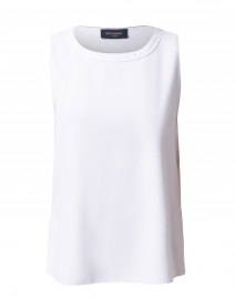 White Top with Black Contrast Stitching