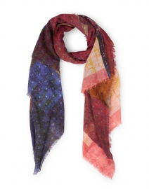 Vivid Colorblocked Lurex Wool and Modal Scarf