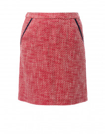Pascaline Red Cotton Tweed Skirt