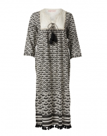 Seychelles Black and White Fan Printed Cotton Tunic Dress