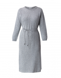 Grey Wool Silk Cashmere Knit Dress
