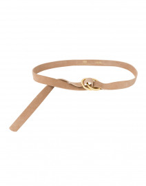 Tumblet Sand Suede Belt with Gold Rings