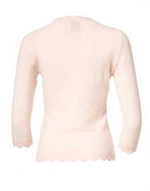 Allude - Rose Pink Scalloped Edge Sweater