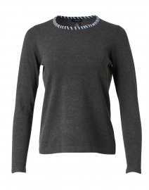 Charcoal Grey Whipstitch Sweater
